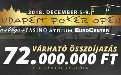 Várhatóan 72.000.000 Ft-ot hoz majd a 10. Budapest Poker Open