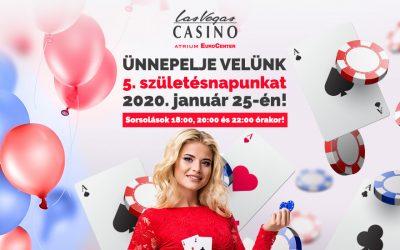 5. születésnapunkat 1.000.000 Forint nyereménnyel ünnepeljük a LVC Atrium Eurocenterben!
