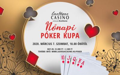 Nőnapi Póker Kupát tartunk 2020. március 7-én a LVC Atrium EuroCenterben!